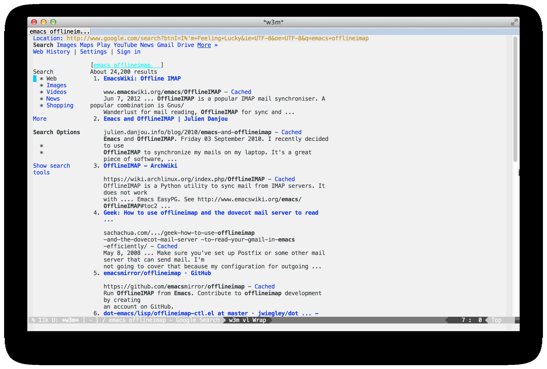 Emacs W3m - Carpe diem (Felix's blog)